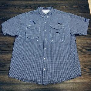 Columbia PFG Kentucky Wildcats Gingham Shirt XXL